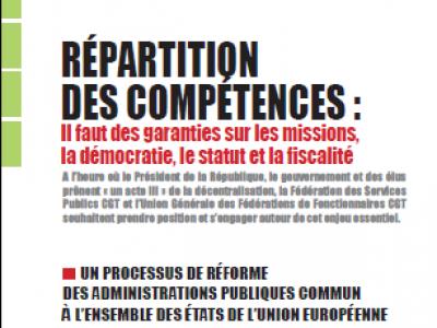 RÉPARTITION DES COMPÉTENCES : Il faut des garanties sur les missions, la démocratie, le statut et la fiscalité