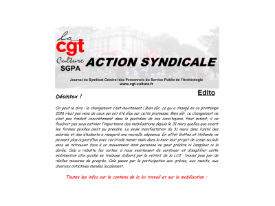 Action Syndicale février 2017