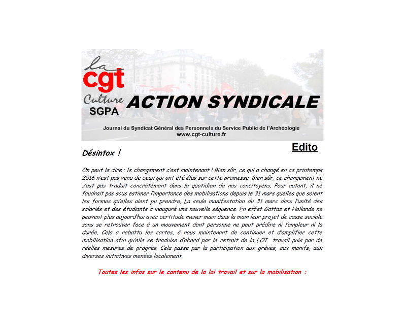 Action syndicale