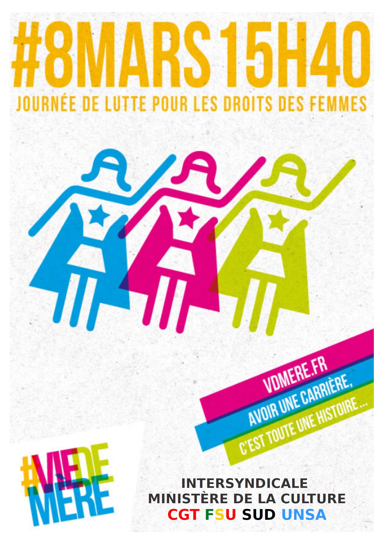 8 mars égalité des droits entre les femmes et les hommes