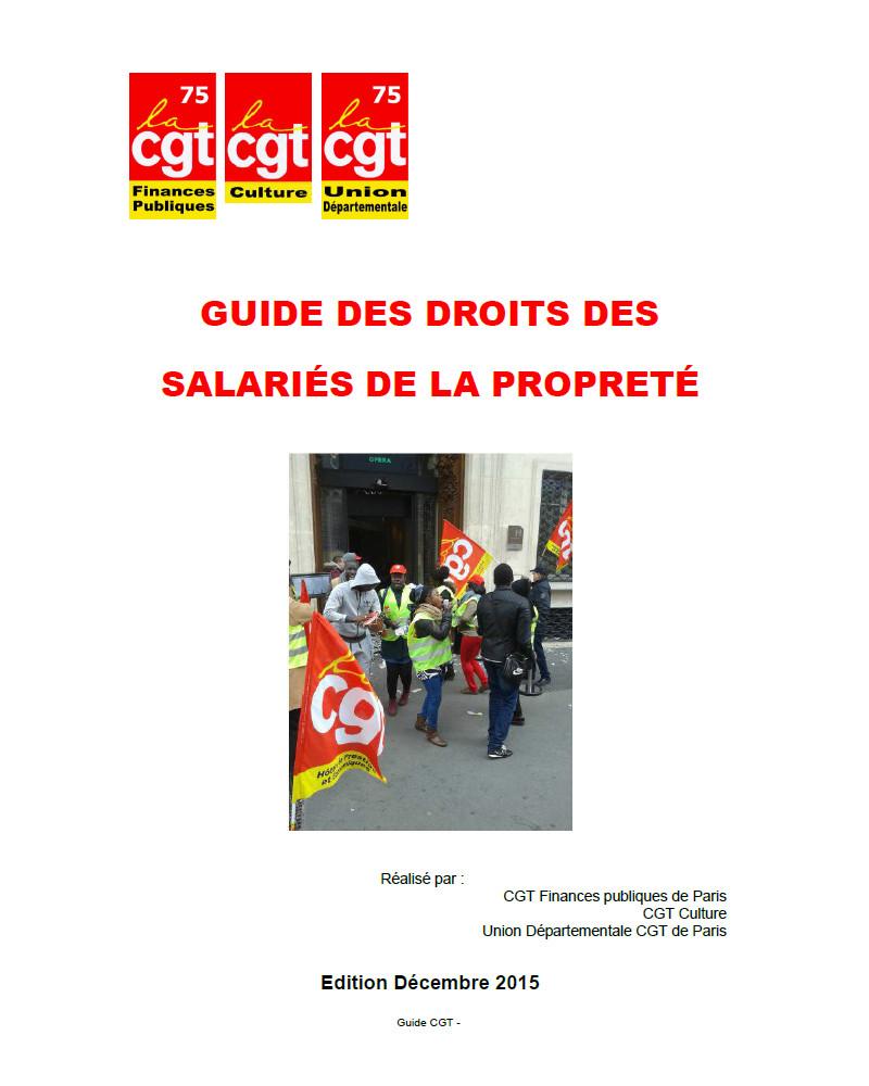 Guide des salarié-e-s de la propreté et du nettoyage