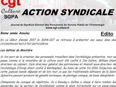 Action Syndicale janvier 2017