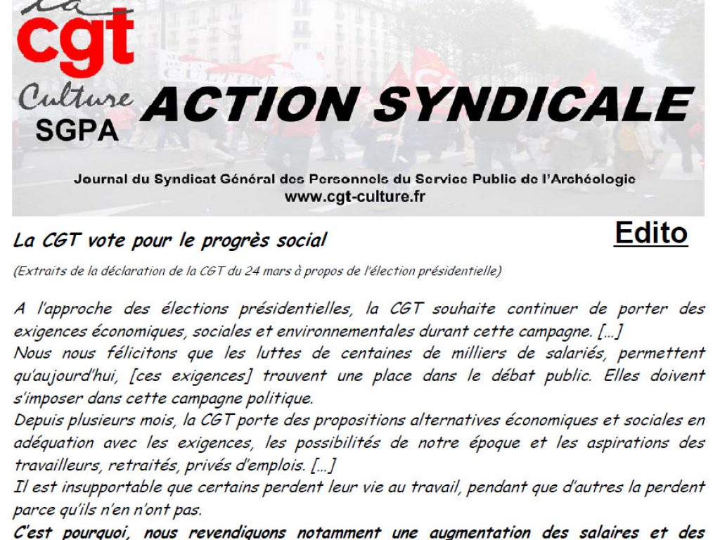 Action syndicale avril 2017