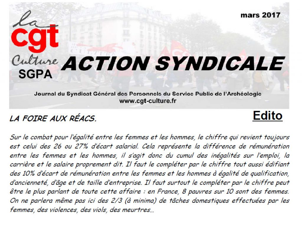 Action Syndicale mars 2017