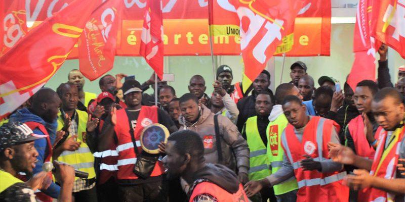 Communiqué de soutien aux travailleurs sans papiers du marché d'intérêt national de Rungis.