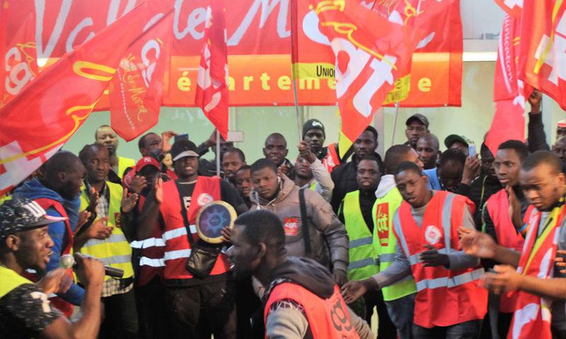 soutien aux travailleurs sans papiers du marché d'intérêt national de Rungis.