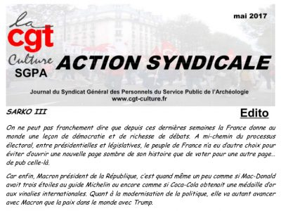 Action Syndicale mai 2017
