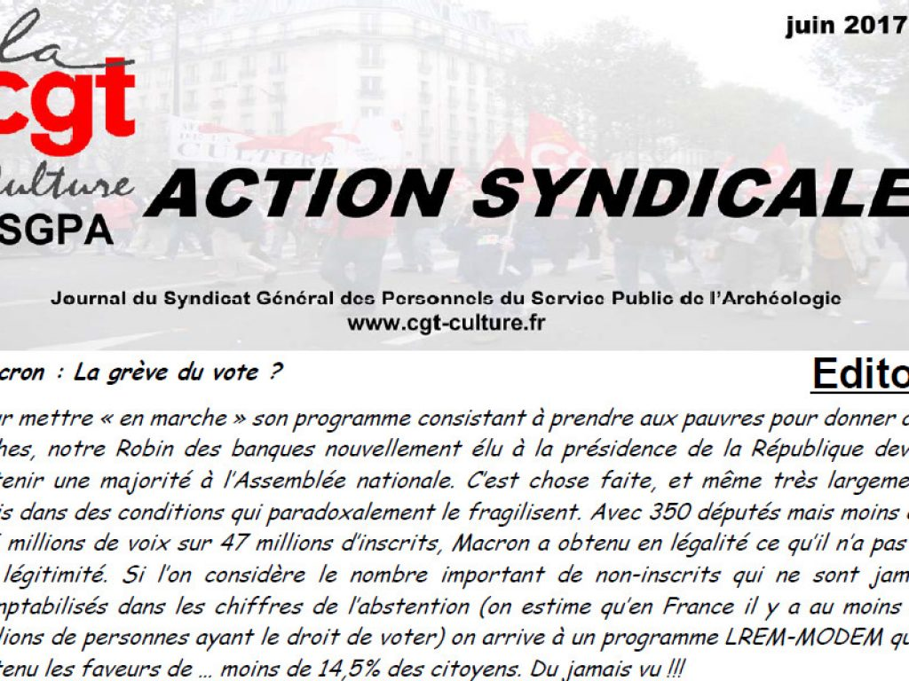 Action Syndicale juin 2017