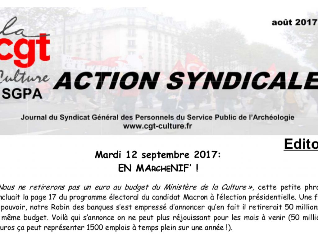 Action Syndicale août 2017