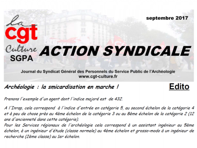 Action syndicale septembre 2017