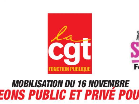 MOBILISATION DU 16 NOVEMBRE – CONVERGEONS PUBLIC ET PRIVÉ POUR GAGNER