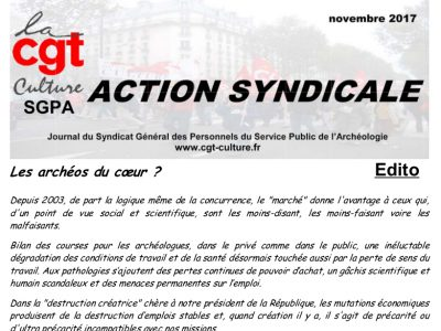 Action syndicale novembre 2017