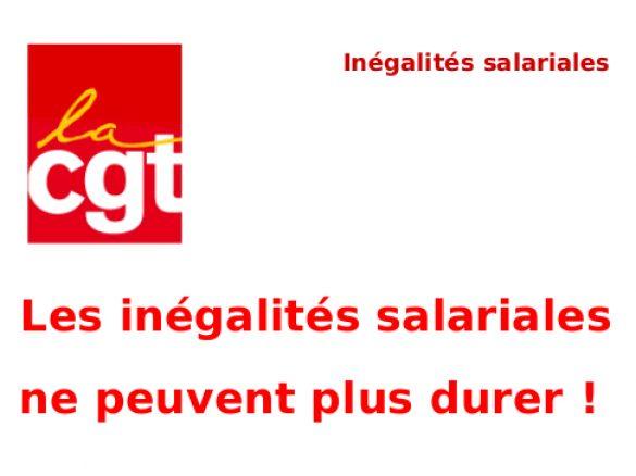 Les inégalités salariales ne peuvent plus durer!