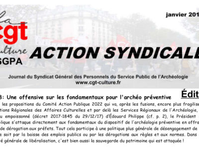 Action syndicale Janvier 2018