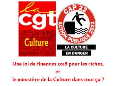 Une loi de finances 2018 pour les riches, et le ministère de la Culture dans tout ça?