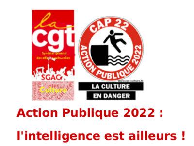 Action Publique 2022 : l'intelligence est ailleurs !