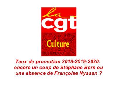 Taux de promotion 2018-2019-2020 : encore un coup de Stéphane Bern ou une absence de Françoise Nyssen?
