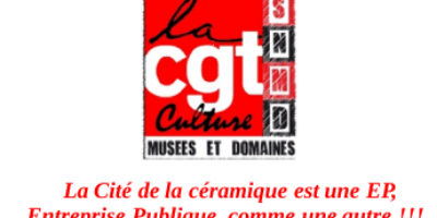 La Cité de la céramique est une EP, Entreprise Publique, comme une autre!!!