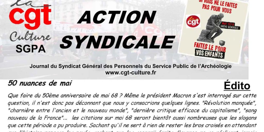 Action Syndicale mars 2018