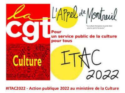 #ITAC2022 – Action publique 2022 au ministère de la Culture