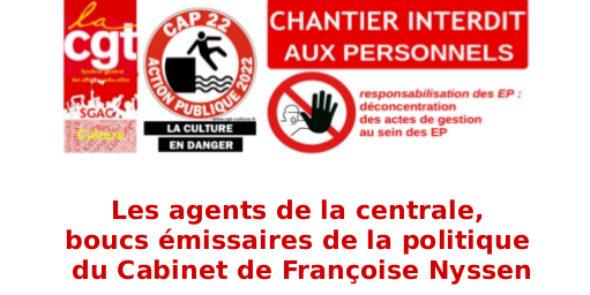 Les agents de la centrale, boucs émissaires de la politique du Cabinet de Françoise Nyssen