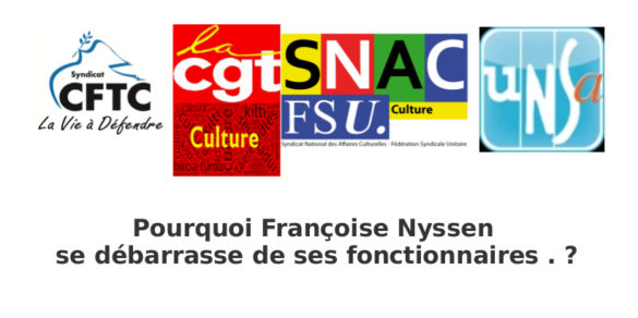 Pourquoi Françoise Nyssen se débarrasse de ses fonctionnaires ?