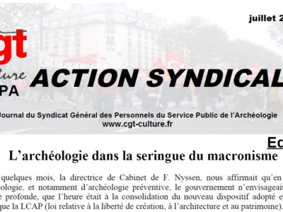 Action syndicale SGPA-CGT-culture Juillet 2018