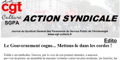 Action syndicale août 2018
