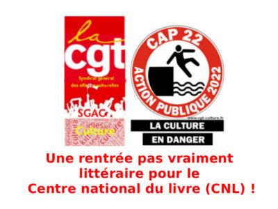 Une rentrée  pas vraiment littéraire pour le  Centre national du livre (CNL)!