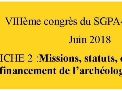 document d'orientation sgpa-cgt: fiche 2 l'archéologie préventive