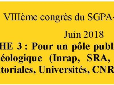 document d'orientation sgpa-cgt: fiche 3 Pôle public de l'archéologie
