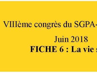 document d'orientation sgpa-cgt: fiche 6 La vie syndicale