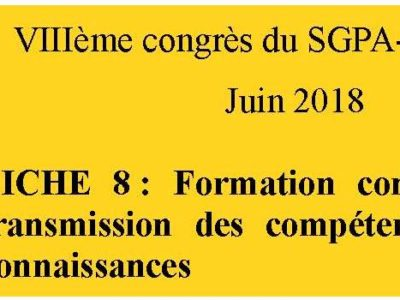 document d'orientation sgpa-cgt: fiche 8 formation et transmission