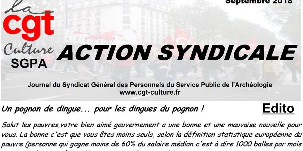 action syndicale SGPA-CGT-Culture septembre 2018