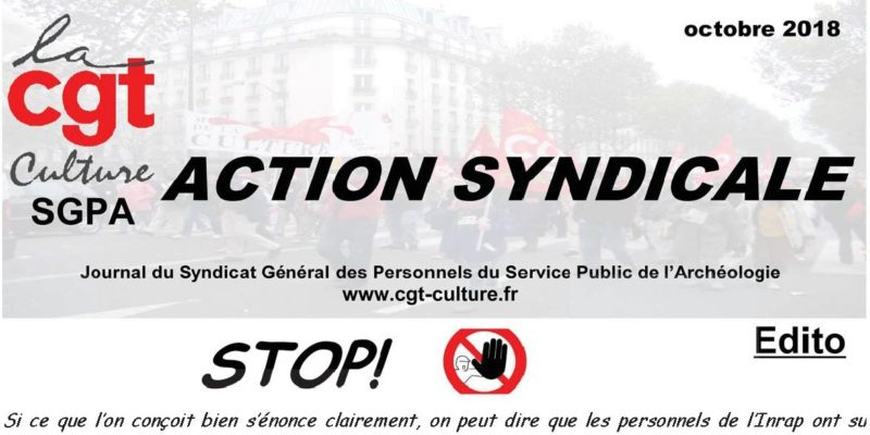 Action Syndicale octobre 2018