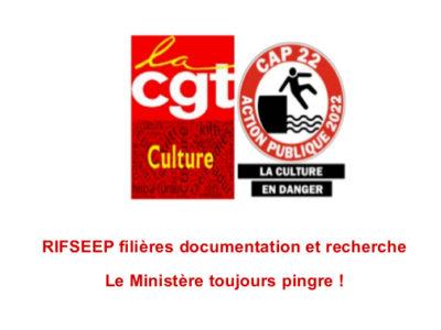 RIFSEEP filières documentation et recherche – Le Ministère toujours pingre !