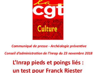 L'Inrap pieds et poings liés :  un test pour Franck Riester