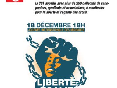 18 décembre 2018 journée internationale DES MIGRANTS