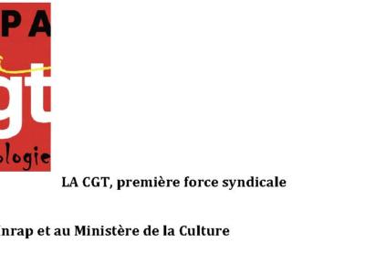 SGPA CGT-Culture communiqué élections 2018