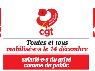 Toutes et tous mobilisé·e·s le 14 décembre, salarié·e·s du privé comme du public