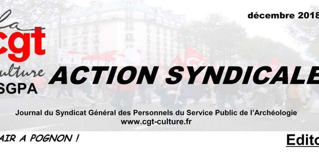"""""""action syndicale"""" SGPA CGT-Culture décembre 2018"""