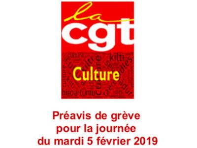 Préavis de grève pour la journée du mardi 5 février 2019