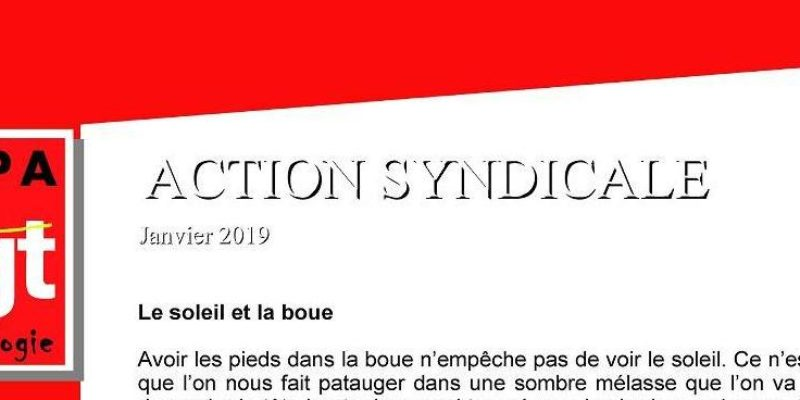 action syndicale SGPA-CGT janvier 2019