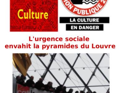L'urgence sociale  envahit la pyramides du Louvre