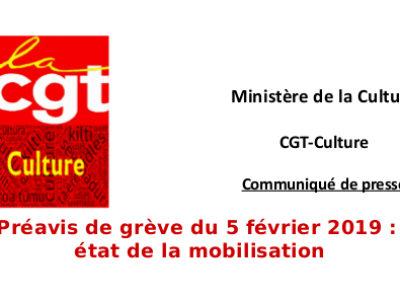 Préavis de grève du 5 février 2019:  état de la mobilisation