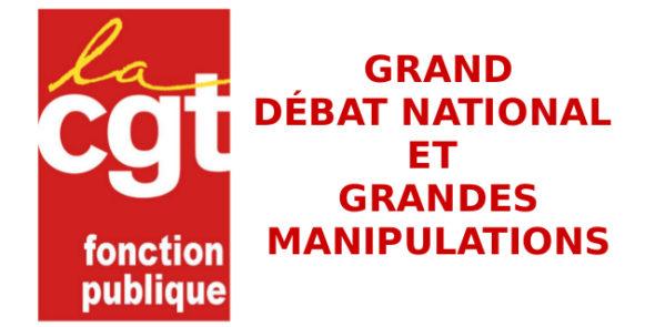 GRAND DÉBAT NATIONAL ET GRANDES MANIPULATIONS