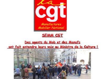 Des agents du Mob et des Manufs ont fait entendre leurs voix au Ministre de la Culture!