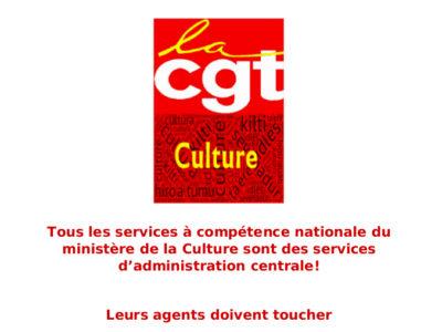 Tous les services à compétence nationale du ministère de la Culture sont des services d'administration centrale!