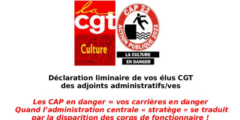 Les CAP en danger= vos carrières en danger  Quand l'administration centrale «stratège» se traduit par la disparition des corps de fonctionnaire!