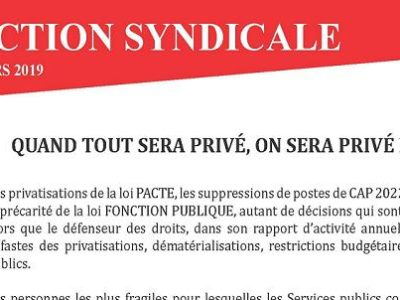 Action Syndicale SGPA CGT-Culture mars 2019